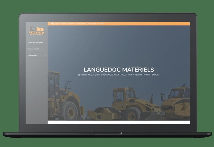 Mockup Languedoc matériels - Portfolio web et print de Z-element spécialiste en création de site internet sur WordPress