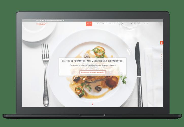 Mockup Polysud formation -  Portfolio web et print de Z-element spécialiste en création de site internet sur WordPress