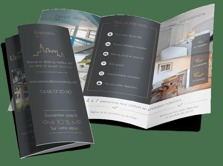 Mockup Uzes appart Hôtel - Portfolio web et print de Z-element spécialiste en création de site internet sur WordPress